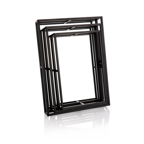 מגשי מראה מרובעים שחור