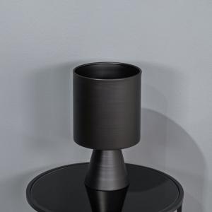 אגרטל מתכת בעיצוב מודרני-שחור