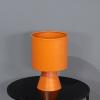 אגרטל מתכת בעיצוב מודרני-כתום חמרה
