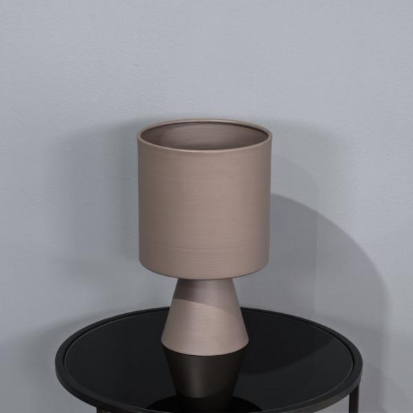 אגרטל מתכת בעיצוב מודרני-אפור בטן