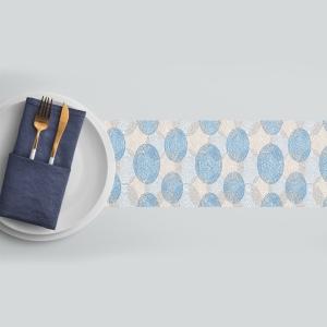 ראנר מגן חום לשלוחן דגם-עיגולי פסיפס